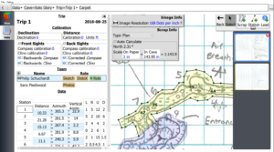 Cave Survey Editor with CaveWhere a Cave Survey Software