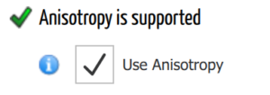 Anisotropy support