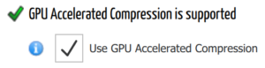 GPU compression support