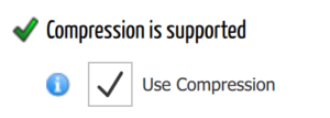 Compression support settings